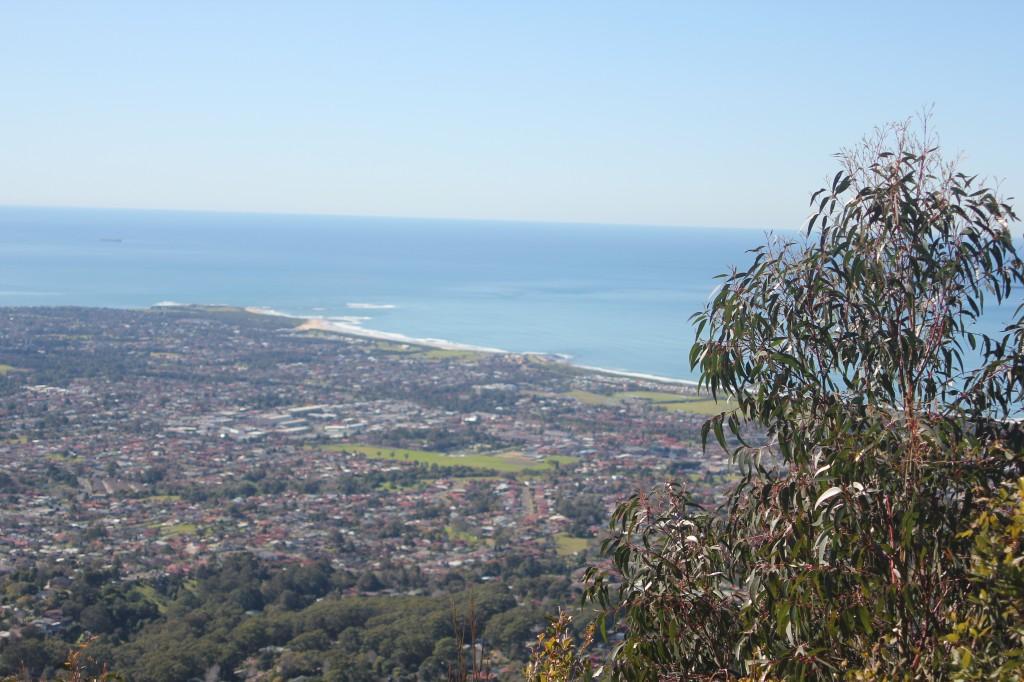 Uitzicht over Wollongong.