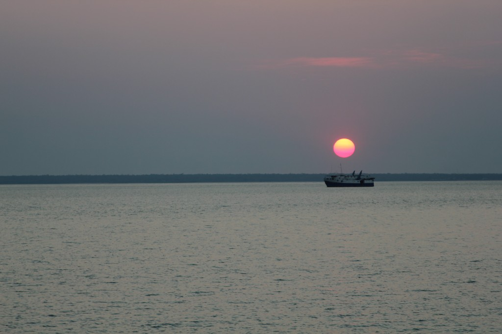 Zonsondergang in Darwin.
