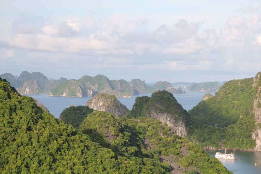 Uitzicht op de baai